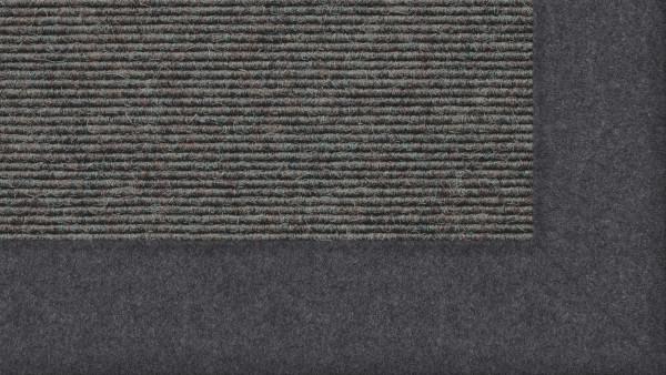 Tretford Interland 523 Zink, Teppich mit Bordüre