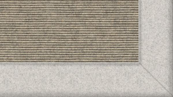 Tretford Interland 515 Quarz, Teppich mit Bordüre