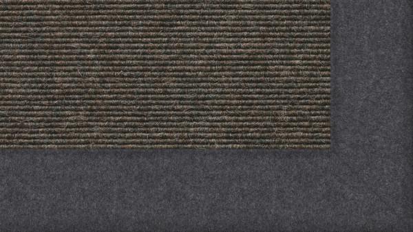 Tretford Interland 512 Schiefer, Teppich mit Bordüre