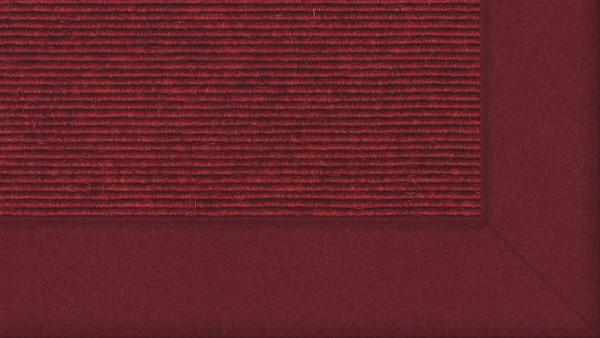 Tretford Interland 524 Kirsche, Teppich mit Bordüre